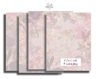Pink Digital Paper Dusty Pink Wedding Blush Abstract Dusty Rose Floral Printable Grey Large Image Pale Slate Print Living Room Wall Art