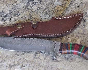 Damascus Outdoor Knife