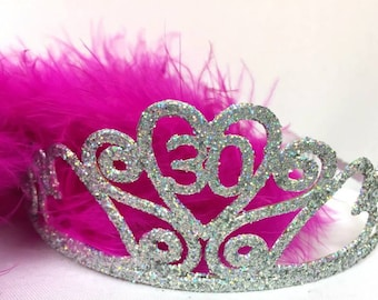 30th Birthday Tiara and Boa