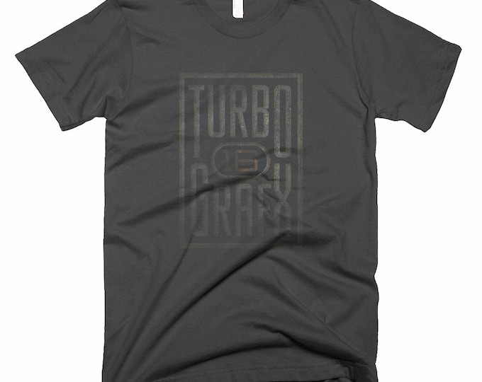 Featured listing image: Turbo Graphx 16 Black Logo T Shirt NEC Classic Console Tee