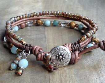 Bohemian bracelet gift for her womens jewelry boho chic bracelet hippie bracelet boho chic jewelry rustic bracelet boho bracelet