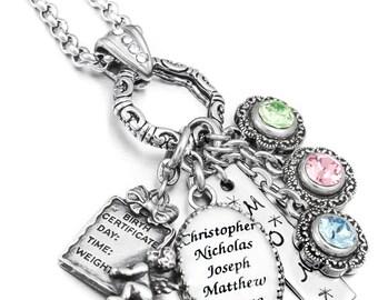 Personalized Birthstone Necklace, Custom Name Jewelry, Personalized Name Necklace, Custom Birthstone Jewelry