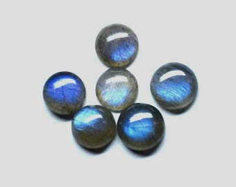 flashy AAA Quality 25 pieces Natural Gemstone Blue Fire labradorite 5x5 mm Round Cabochon Loose Semiprecious Gemstone Calibrated