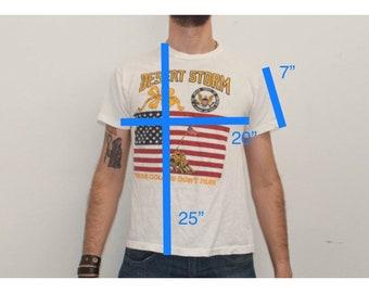 SALE Desert Storm Support Our Troops Vintage Tshirt Size Medium