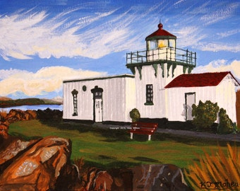 Wall Art, 8x10 Art, Landscape, Seascape, Lighthouse, Point No Point, Lighthouse print, beach art, lighthouse art,  Item #PNPP-2015