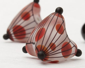 "GlassGeoBeads - ""Dots and stripes"""