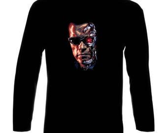Inspired By Terminator Arnold Schwarzenegger Poster Langarm Long Sleeve T-Shirt