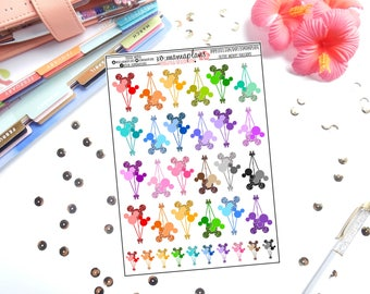 Glitter Mickey Balloons Planner Stickers | Perfect for any planner