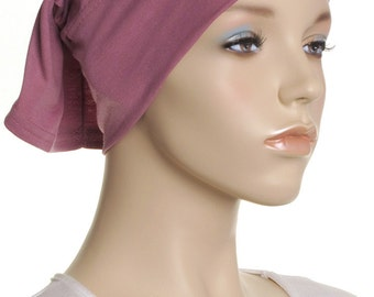 Extra Wide Headband / Rose Pink Cotton Head Band / Gifts For Her / Plain Head Wrap / Womens Yoga Headbands / Chemo Cap / Underscarf