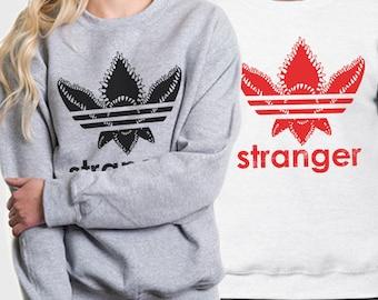 Stranger Things Sweatshirt, Stranger Things, Stranger Things Parody, Adidas Parody Sweatshirt, Adidas Parody Sweater, Demogordon Parody