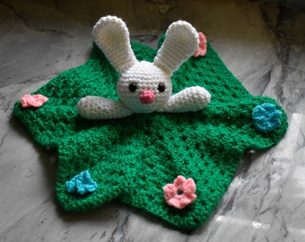 Crocheted Bunny Lovey