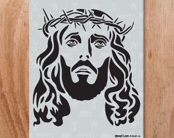 Jesus Stencil- Reusable Craft & DIY Stencils- S1_01_151 -8.5x11- By Stencil1