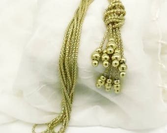 Vintage Multi Strand Knotted Statement Necklace
