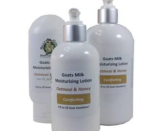 Lotion, Oatmeal & Honey lotion, Oatmeal Lotion, Goat Milk Lotion, Honey Lotion,