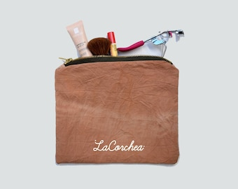 Cosmétiquera, Make-up Bag, avocado bag, purse, avocado, natural colors, pink