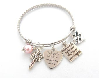Mother of the Bride Bracelet-Wedding Gift for Mother from Daughter- Wedding Gift from Son in Law-Today a Bride Wedding quote-Wholesale