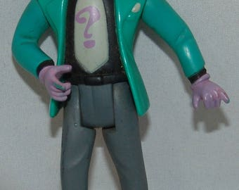 "DC Comics Kenner The Riddler 1993 Vtg Action Figure Batman 4 3/4"" Toy Character"