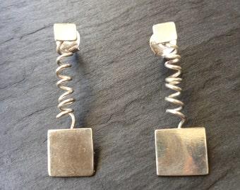 Irregular earring spring