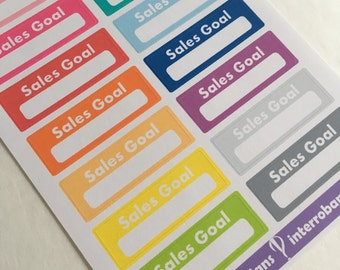 A102 - Sales Goals - Planner Stickers - Erin Condren Happy Planner