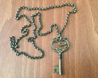 Rustic Antique Skeleton Key Necklace