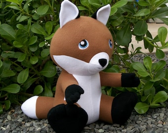 Large Huggable Fox Plush - Made to Order