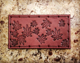 Leather Patch - Pot Leafs - Sew On Anything - hand made by American Made Upgrades