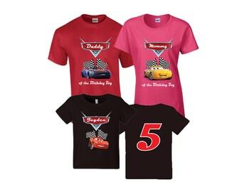 Disney Cars Birthday Shirt Cars Custom Shirt, Personalized Cars Shirt, Cars amily shirts, Birthday t-shirt or girls and boys,..