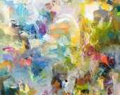 Large abstract expression...