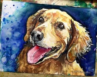 CUSTOM Pet Portrait Painting | Watercolor | Large Sizes