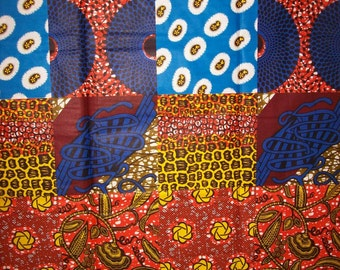 6 Yards African Print Patchwork Style fabric/ Wholesale Colorful Ethnic Print Fabric/ Global fabrics/ African clothing