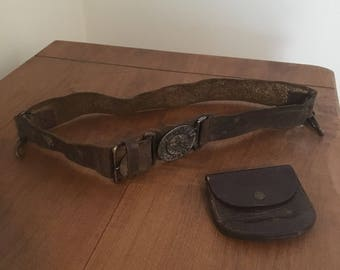 Vintage 1960s Boy Scout of Canada Belt and Pouch