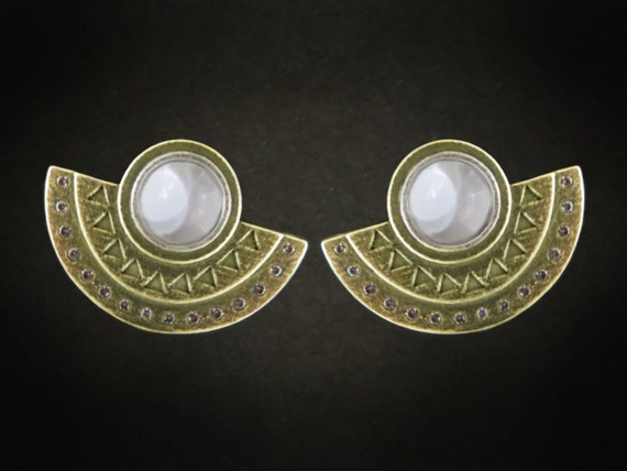 eye of unique ancient earrings genie pin horus egyptian mythology jewelry silver
