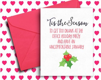 Cute witch christmas card funny holiday greeting card funny holiday card funny christmas card office humor co worker christmas gift merry christmas happy holidays xmas funny greeting card m4hsunfo