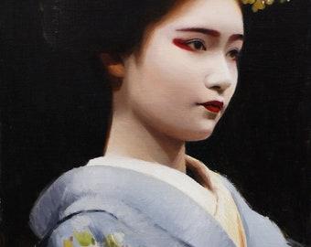 """Naoai - signed 8"""" x 10"""" print of an - japanese geisha art asian maiko artwork"""