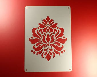 Stencil Damask Acanthus Ornament Brocade-BE26