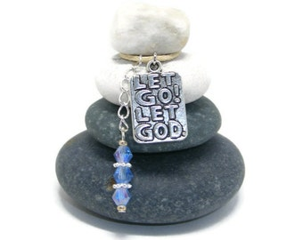 Let Go Let God Stone Cairn, Surrender, Inspirational, Spiritual, Gratitude, Calming, Positive, Pray, Youth Minister Desk Gift, Inspiration
