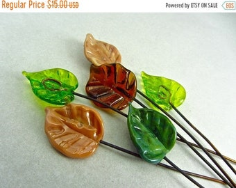 Spring Sale Lampwork Headpins - Handmade Lampwork Glass Bead SRA