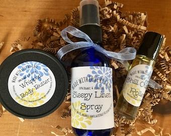 Just Relax Gift Set/Natural Skin Care Gift Set/Stress Relief Gift Set/Spa Gift Set/Gift Set/Beauty Spa Box/Wellness Gift Set