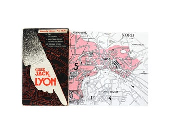 """1945 - WWII - Vintage """"Guide Jack De Lyon"""" With Maps - Streets, Tramways, Hotels, Theatres, Cinemas - Editions Jacquier et Cie"""