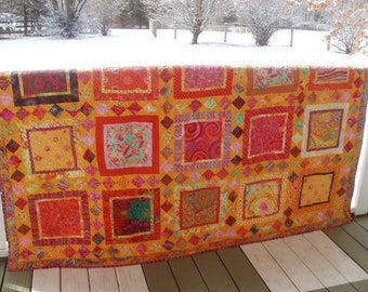 """Quilt """"Mexican Fiesta"""" Full or Queen Size 88"""" x 71"""""""