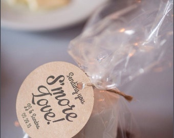 Smore Wedding Favor | Smore Bar | Smore Tags | Wedding Favor Tags | Favor Tags | Smore Love