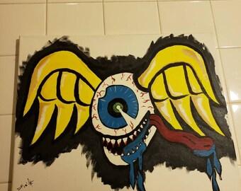 Custom Flying EyeBall painting