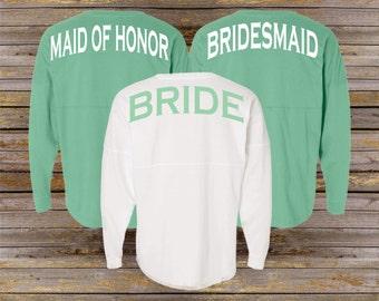 Bridal Party Spirit Shirt ~ Personalized Jersey ~ Bridesmaid Bride Shirt (BR021) B32