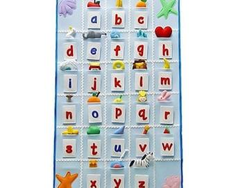 Alphabet Letters Interactive Felt Wall Board/Activity Board/Sensory Toy/Eco Friendly/Ready To Ship