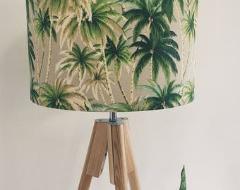 Mojito palms Lampshade, coastal decor,