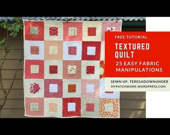 Quilt pattern: Textured quilt - PDF download