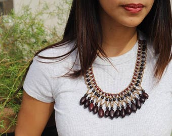 Amazonia  Visola and Orchid Seed Necklace