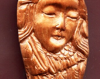 Polymer  Clay Coppper  Highlighted Art Nouveau Goddess Cab BRAN 1