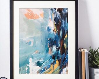 Abstract Art Print - Large Abstract Art A3 + A4 Sizes Fine Art Poster -  Wall Art Abstract Art Prints - Original Art Gift Modern Wall Print