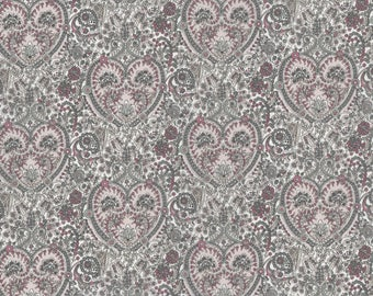 Fat eighth Kitty grace, pink and grey Liberty of London print